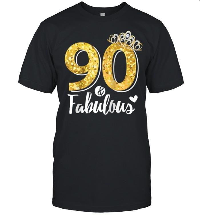 90th Birthday Ninety and Fabulous shirt Classic Men's T-shirt