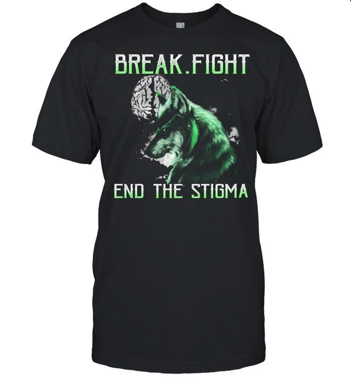 Brain break fight end the stigma shirt Classic Men's T-shirt