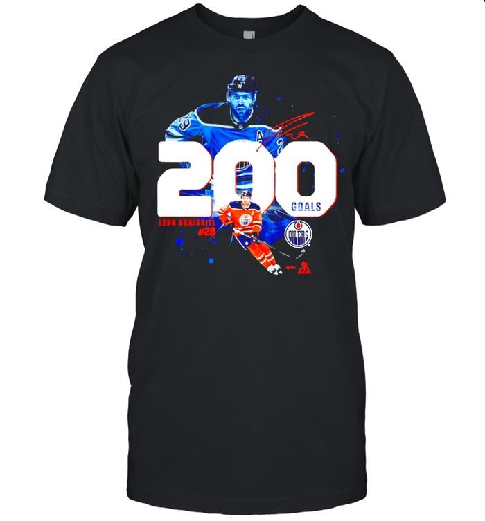 Edmonton Oilers Leon Draisaitl 200 Goals shirt