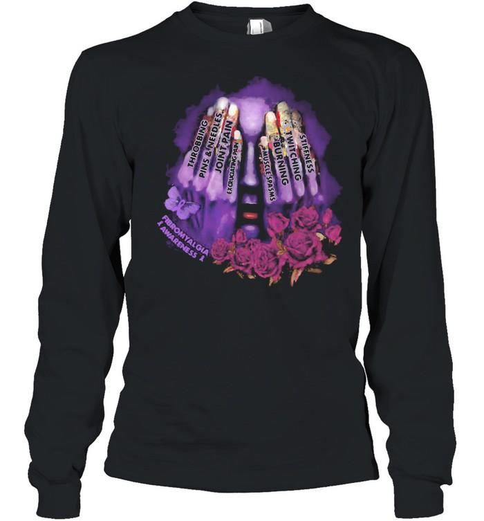 Throbbing Pins And Needles Joint Pain Rose Girl  Long Sleeved T-shirt