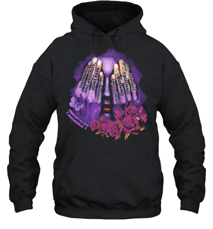 Throbbing Pins And Needles Joint Pain Rose Girl  Unisex Hoodie