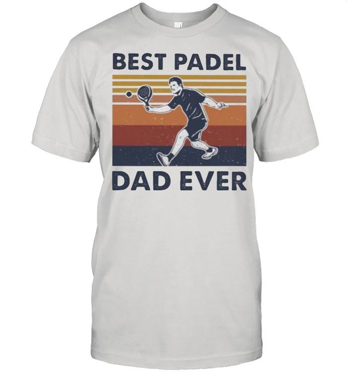 Best Padel Dad Ever Vintage  Classic Men's T-shirt