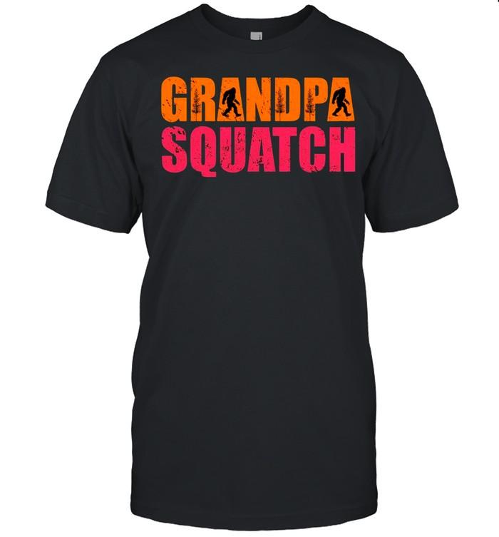 Bigfoot First Grandpa Squatch shirt Classic Men's T-shirt