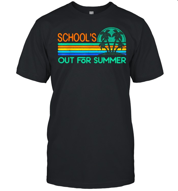 Schools out for summer Teacher Summer vintage sunset T- Classic Men's T-shirt
