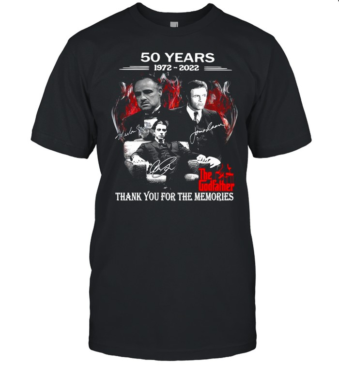 50 Years 1972-2022 The Godfather Signatures Thank You For The Memories T-shirt