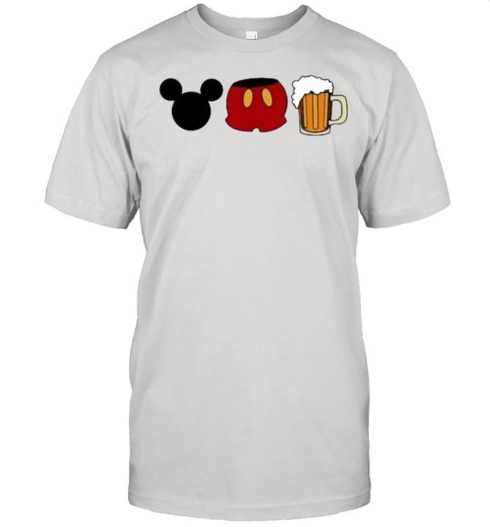 disney mickey mouse beer shirt Classic Men's T-shirt