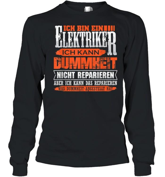 Elektriker und Repariere das shirt Long Sleeved T-shirt