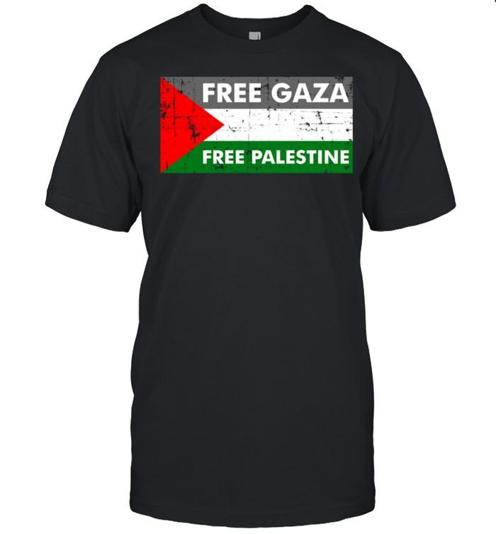Free Gaza Free Palestine Vintage Palestinian Flag shirt