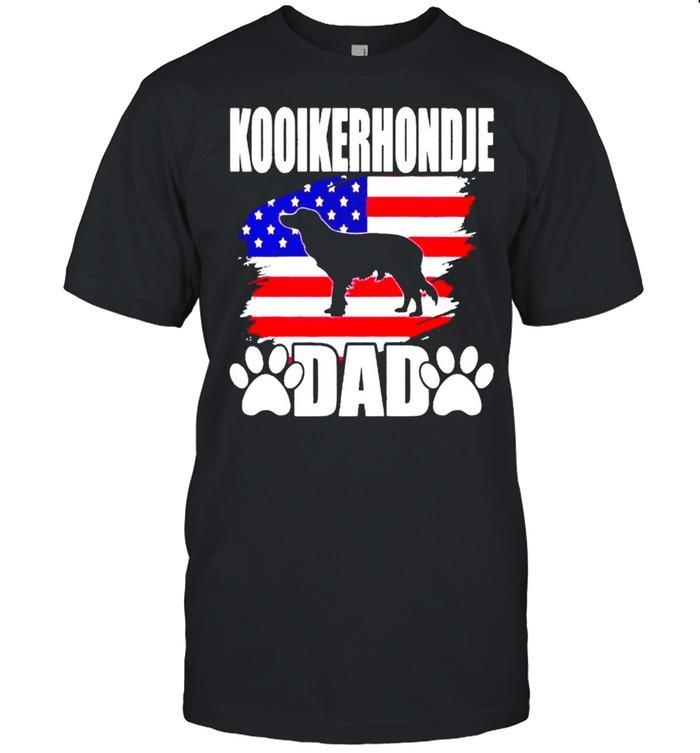 Kooikerhondje dad happy 4th of july shirt