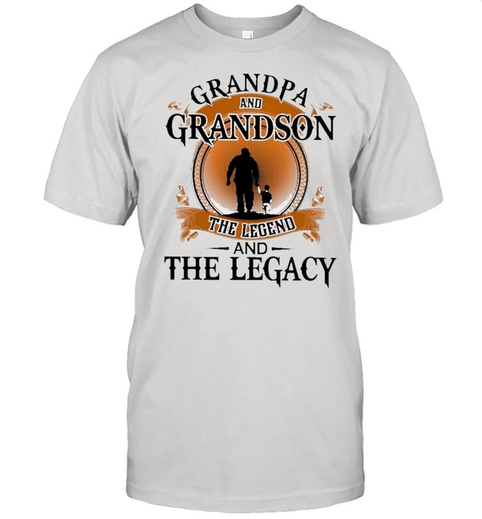Grandpa And Grandson The Legend And The Legacy Retro shirt Classic Men's T-shirt