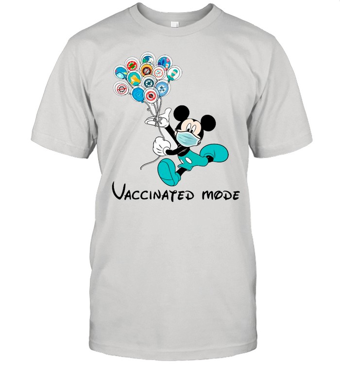 Disney Mickey Mouse Face Mask Vaccinated Mode shirt