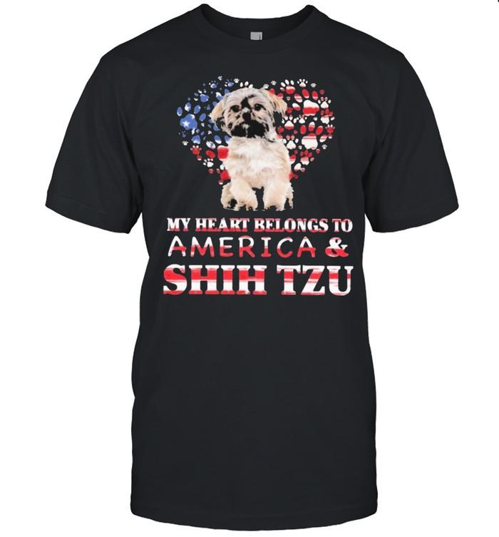 Shih tzu my heart belongs to shih tzu lovers shirt