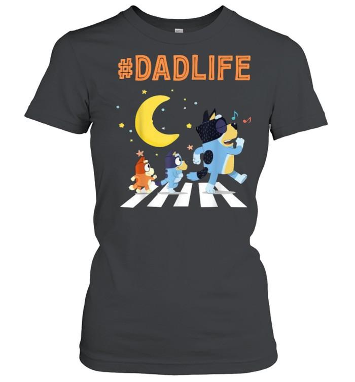 Bluey Dad Life Dog Ways Moon - Classic Women's T-shirt