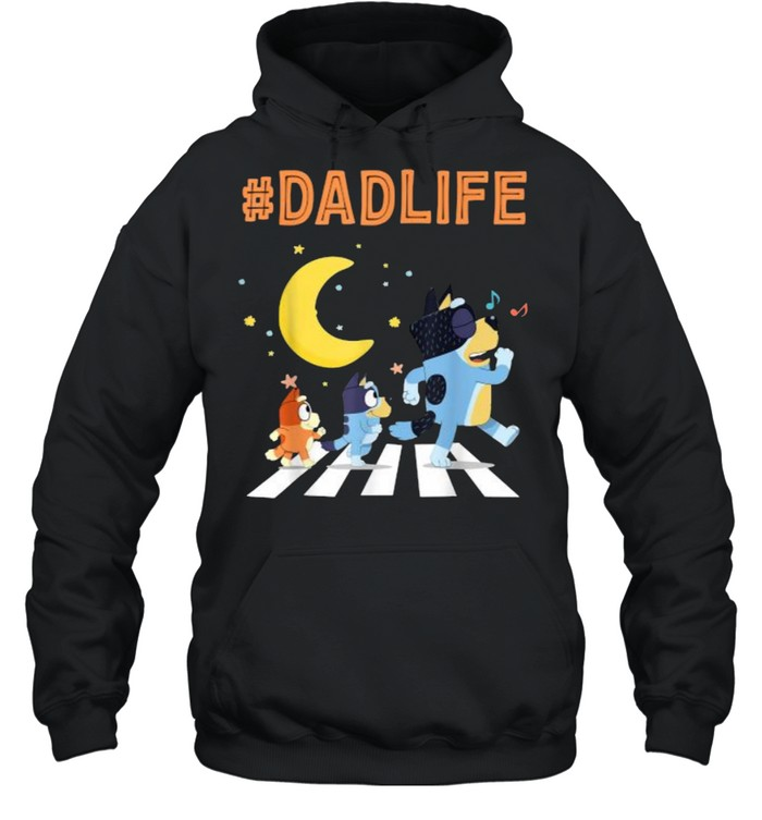 Bluey Dad Life Dog Ways Moon - Unisex Hoodie