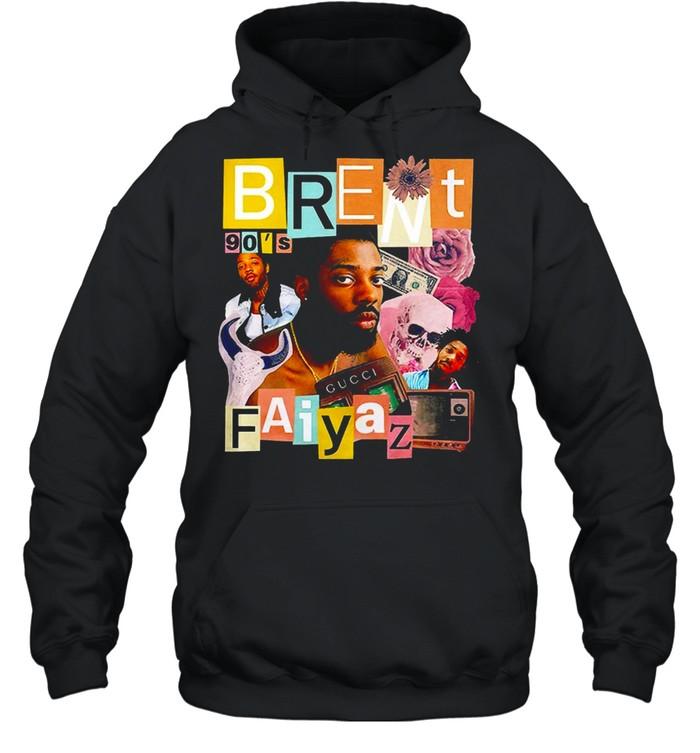 Brent Faiyaz 90's Hip Hop Rap Tour Vintage T-shirt Unisex Hoodie