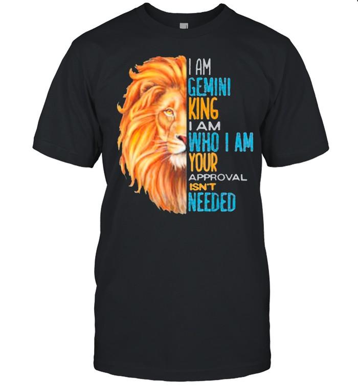 Gemini King Zodiac Astrology Birthday Lion Slogan Saying Classic shirt
