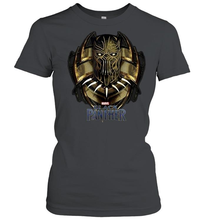 Marvel Black Panther Movie Killmonger Golden Jaguar T-shirt Classic Women's T-shirt