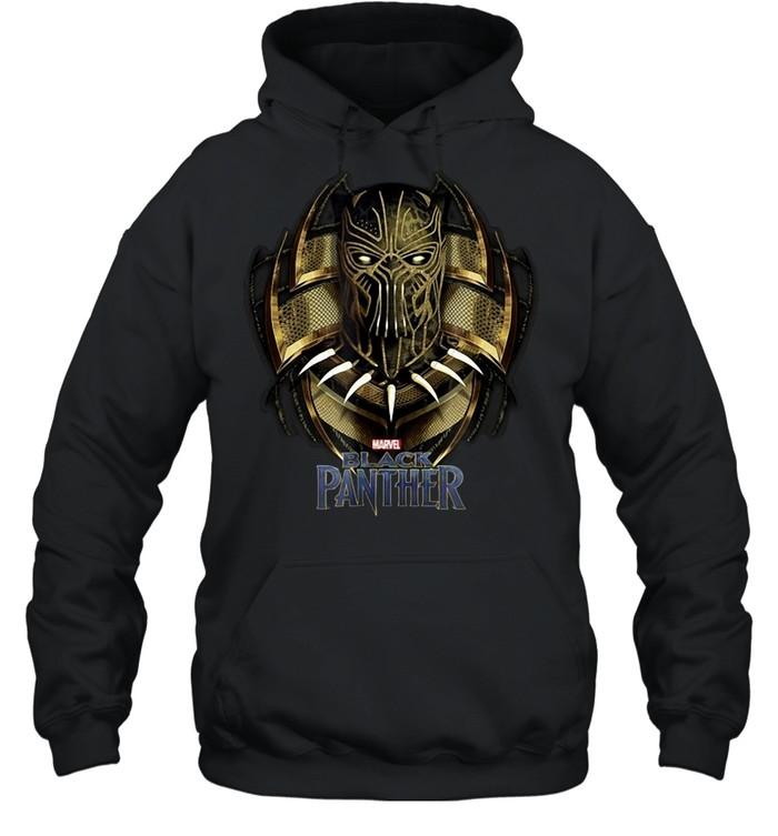 Marvel Black Panther Movie Killmonger Golden Jaguar T-shirt Unisex Hoodie