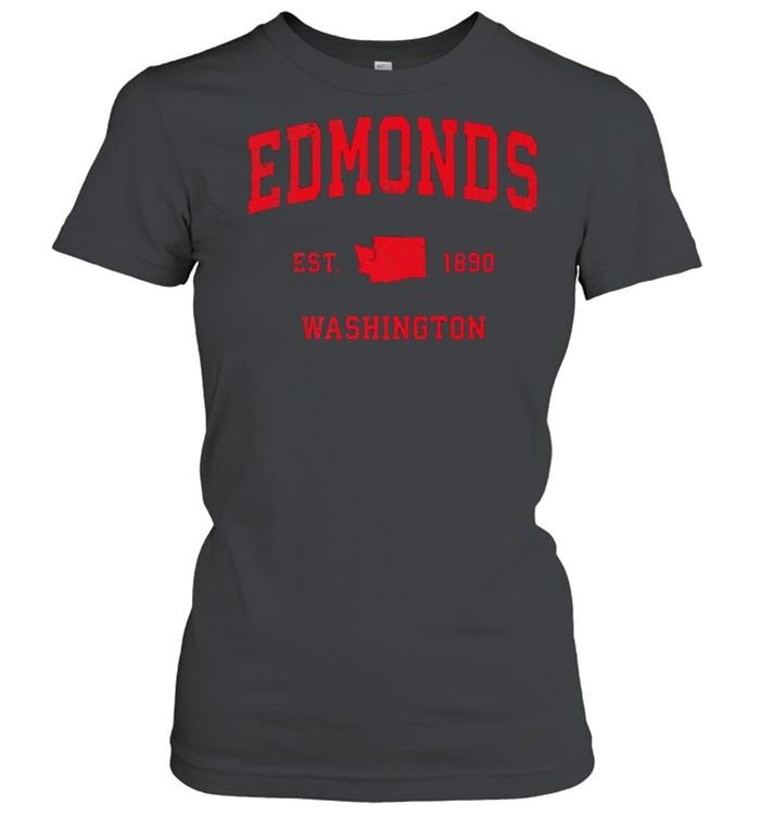 Edmonds Washington WA Est 1890 Vintage Sports T- Classic Women's T-shirt