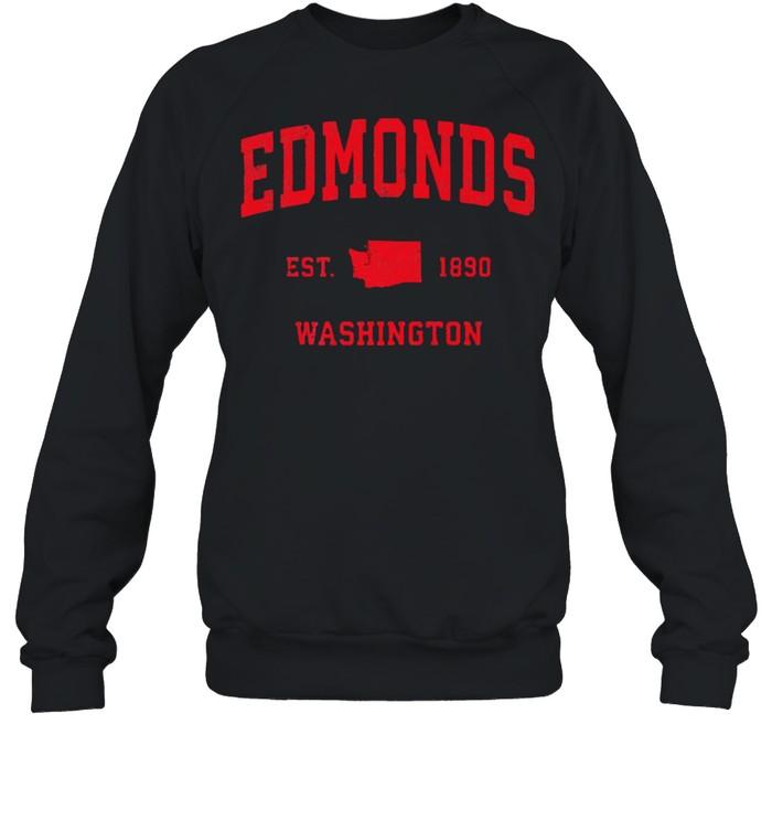 Edmonds Washington WA Est 1890 Vintage Sports T- Unisex Sweatshirt