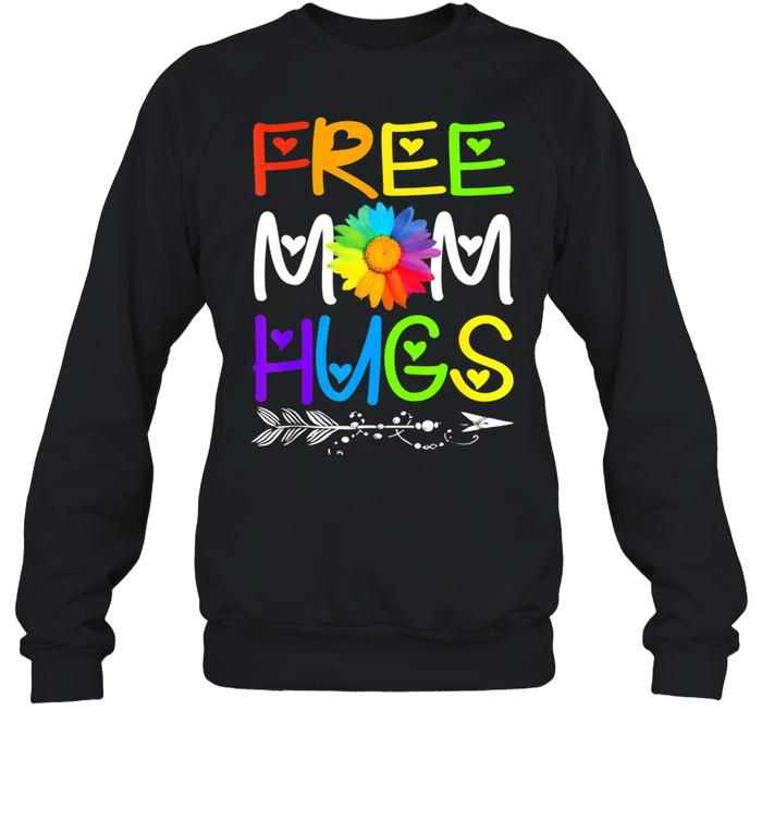 Free Mom Hugs Rainbow Heart LGBT Pride Month shirt Unisex Sweatshirt