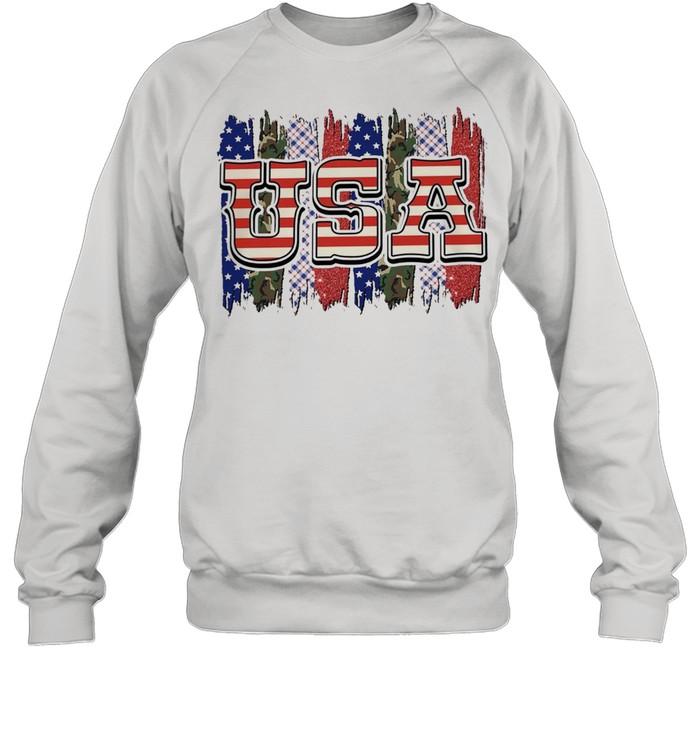 Camo american flag shirt Unisex Sweatshirt