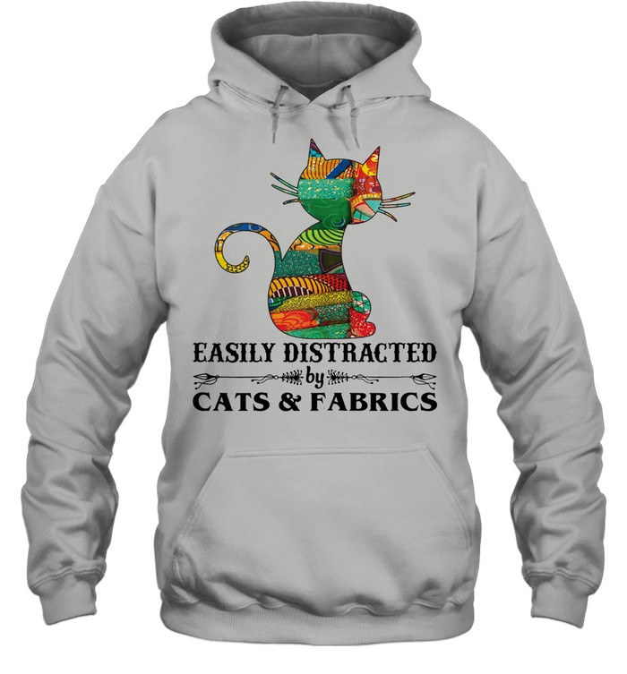 Easily distracted by cast and fabrics shirt Unisex Hoodie