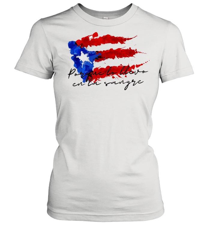 Llevo en la sangre American flag shirt Classic Women's T-shirt