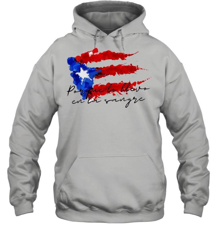 Llevo en la sangre American flag shirt Unisex Hoodie