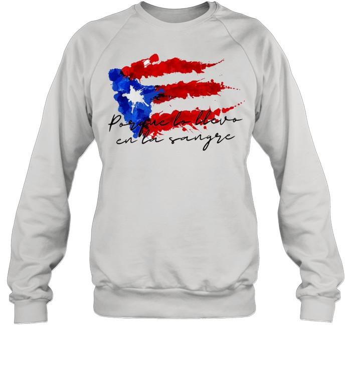 Llevo en la sangre American flag shirt Unisex Sweatshirt