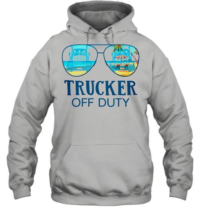 Trucker off duty shirt Unisex Hoodie