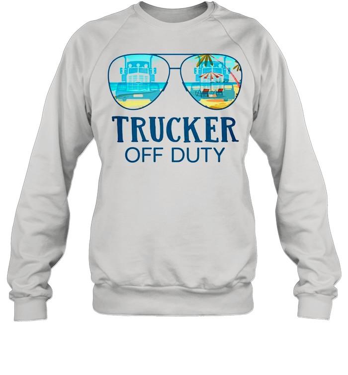 Trucker off duty shirt Unisex Sweatshirt