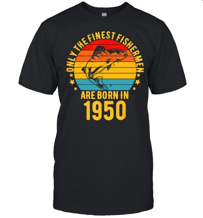 71 Year Old Fishing 71st Birthday Born In 1950 Fisherman shirt Classic Men's T-shirt