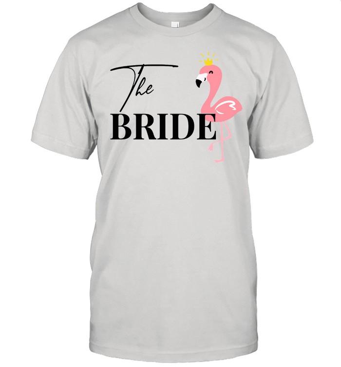Damen Bride to be Braut Flamingo Flamingos JGA Verlobung Langarmshirt shirt Classic Men's T-shirt