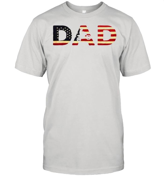 Biker Father – Patriotic Bike Rider Independence Day T-Shirt