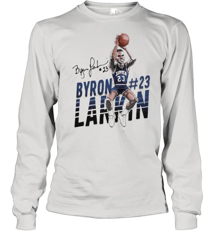 Byron larkin basketball signature shirt Long Sleeved T-shirt