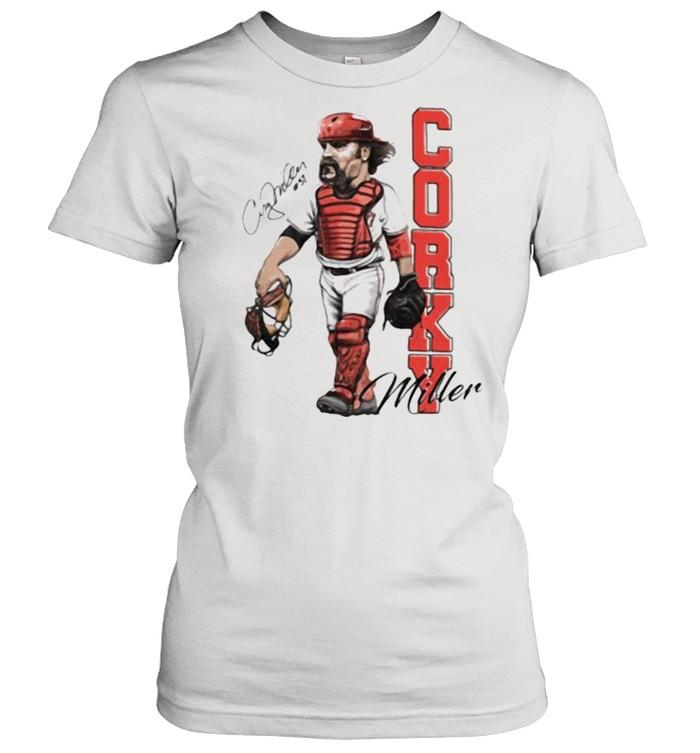 Corky miller signature player baseball shirt Classic Women's T-shirt