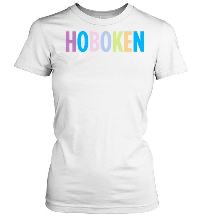 Hoboken New Jersey Colorful Type shirt Classic Women's T-shirt