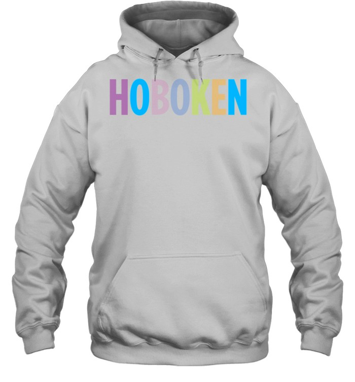 Hoboken New Jersey Colorful Type shirt Unisex Hoodie