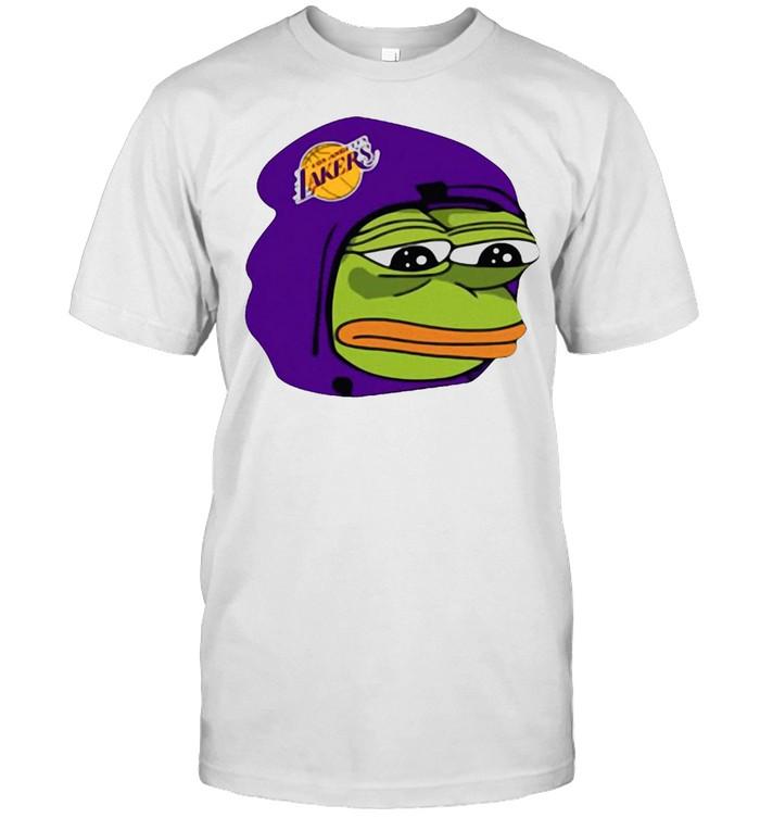 Cool Los Angeles Lakers Sad Pepe The Frog T-shirt