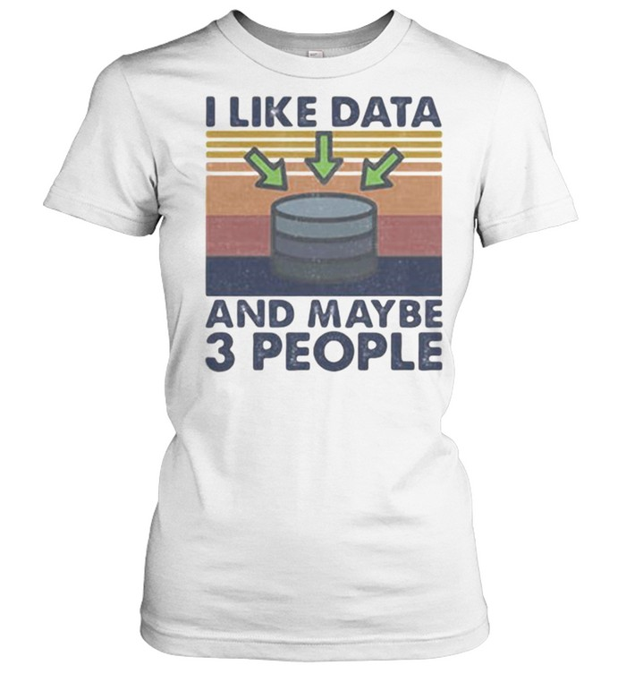I Like Data And Maybe 3 PEople vintage  Classic Women's T-shirt