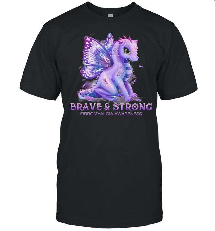 Dragon brave and strong fibromyalgia awareness shirt Classic Men's T-shirt