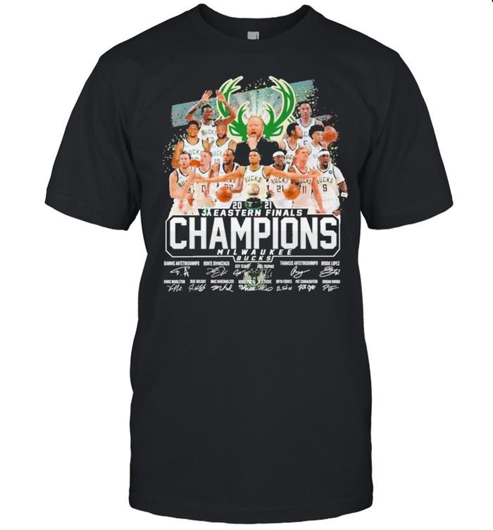 2021 3x eastern finals champions milwaukee bucks thank you for the memories shirt Classic Men's T-shirt