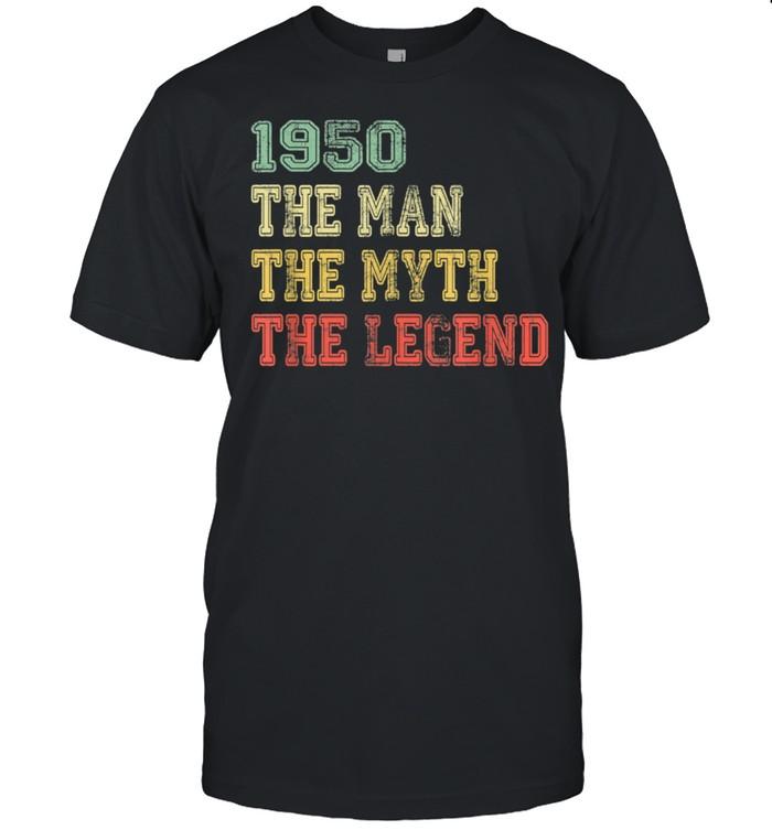 Mens Vintage 1950 Man Myth Legend Birthday For 71 Years Old shirt Classic Men's T-shirt