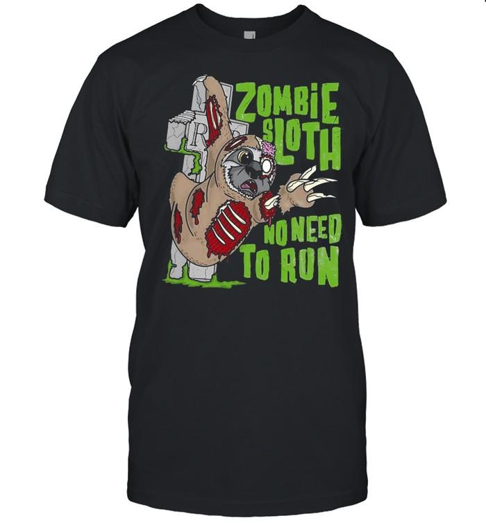 Pun Halloween Outfit Zombie Sloth No Need To Run T-shirt Classic Men's T-shirt