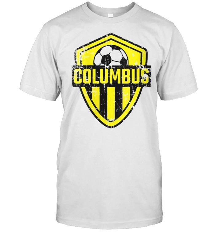 Columbus Soccer Jersey Style Team Fan Flag Ohio T- Classic Men's T-shirt
