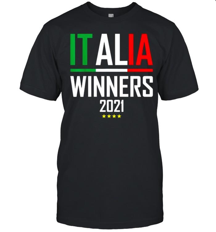 Italia Winners 2021 Collectible Jersey Soccer Italian T- Classic Men's T-shirt