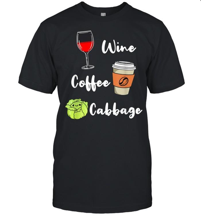 Wine Coffee Cabbage shirt Classic Men's T-shirt