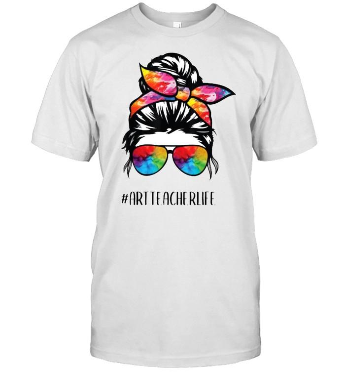 Art Teacher Life Messy Bun, Back to School Art Teacher T- Classic Men's T-shirt
