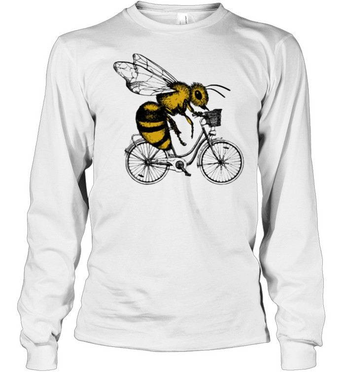 Bee Cycling  Long Sleeved T-shirt